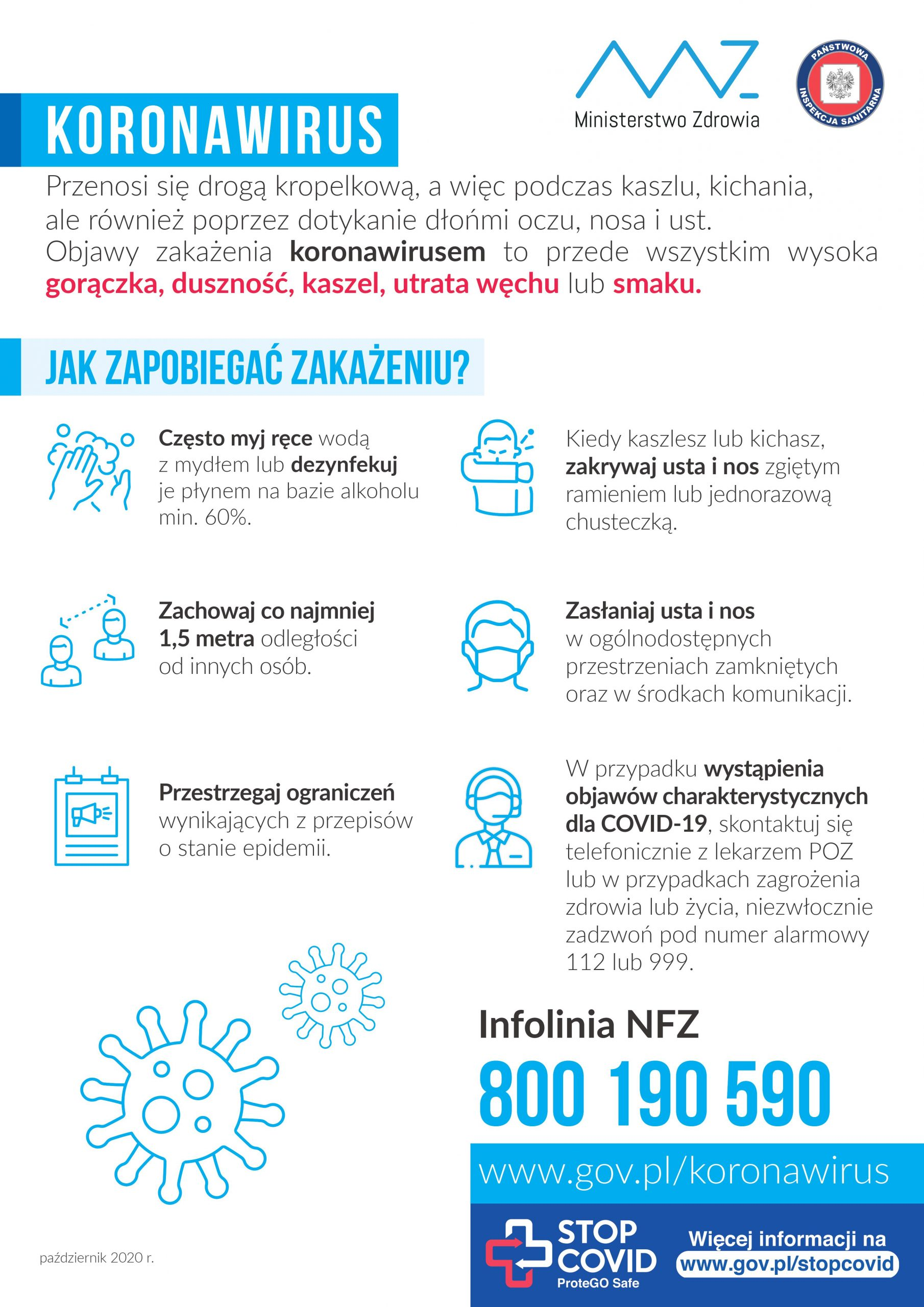 koronawirus plakat informacje