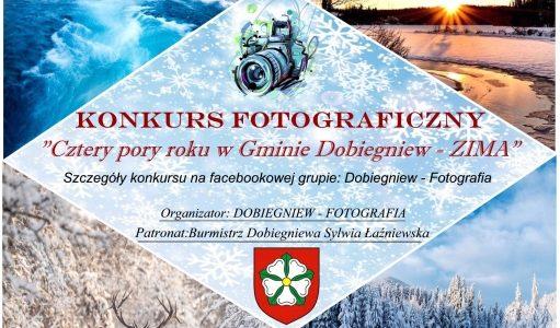 KONKURS FOTOGRAFICZNY ,,CZTERY PORY ROKU' W GMINIE DOBIEGNIEW – ZIMA'