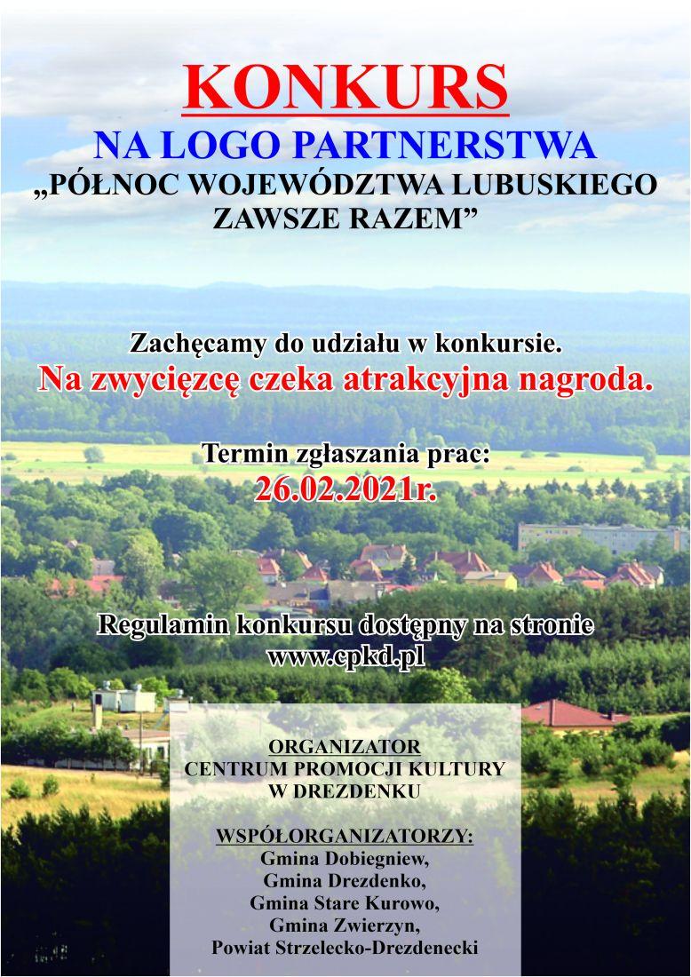 plakat partnerstwa Północ Województwa Lubuskiego Zawsze Razem