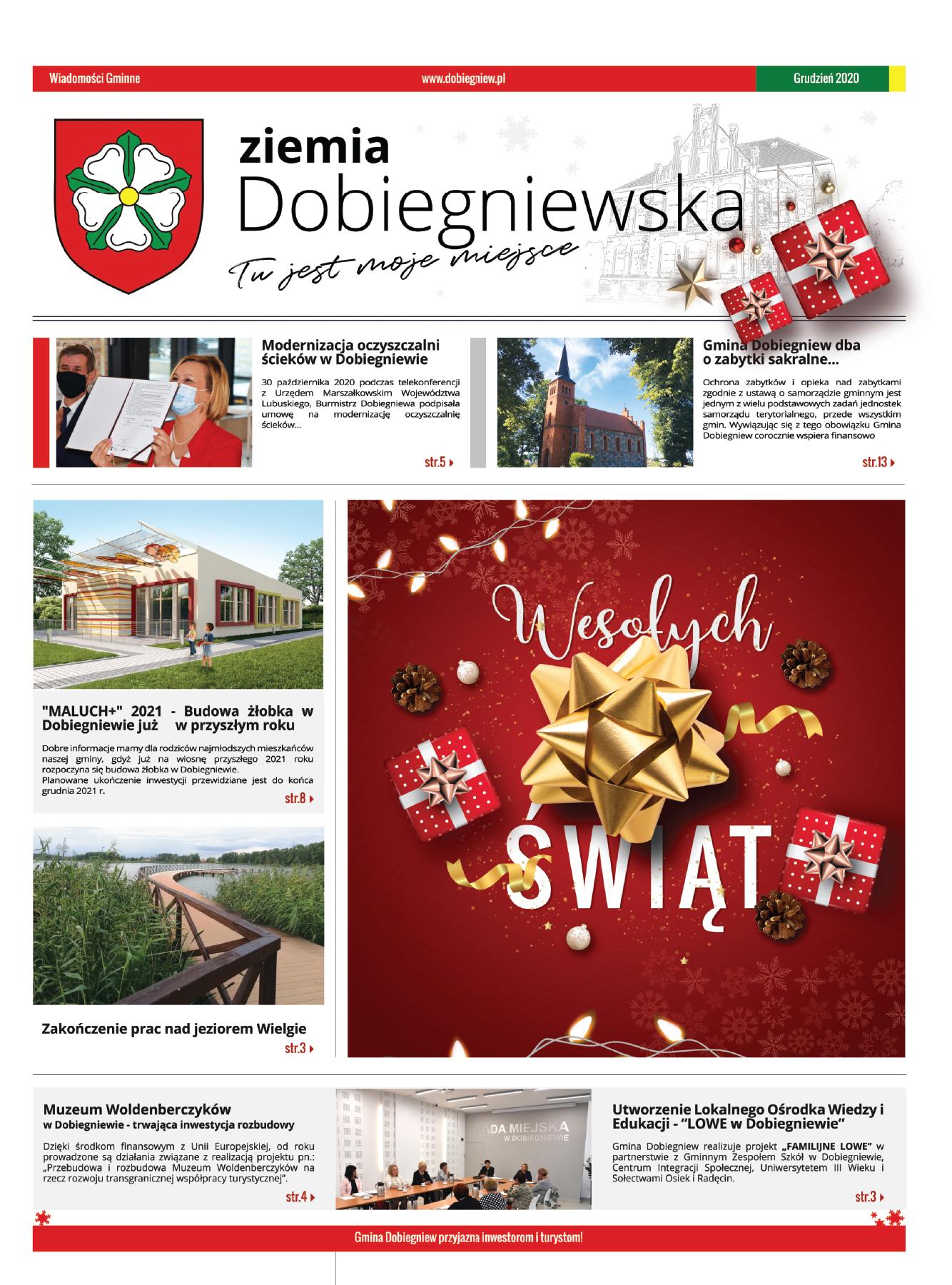 Gazeta Ziemia Dobiegniewska - okładka gazety