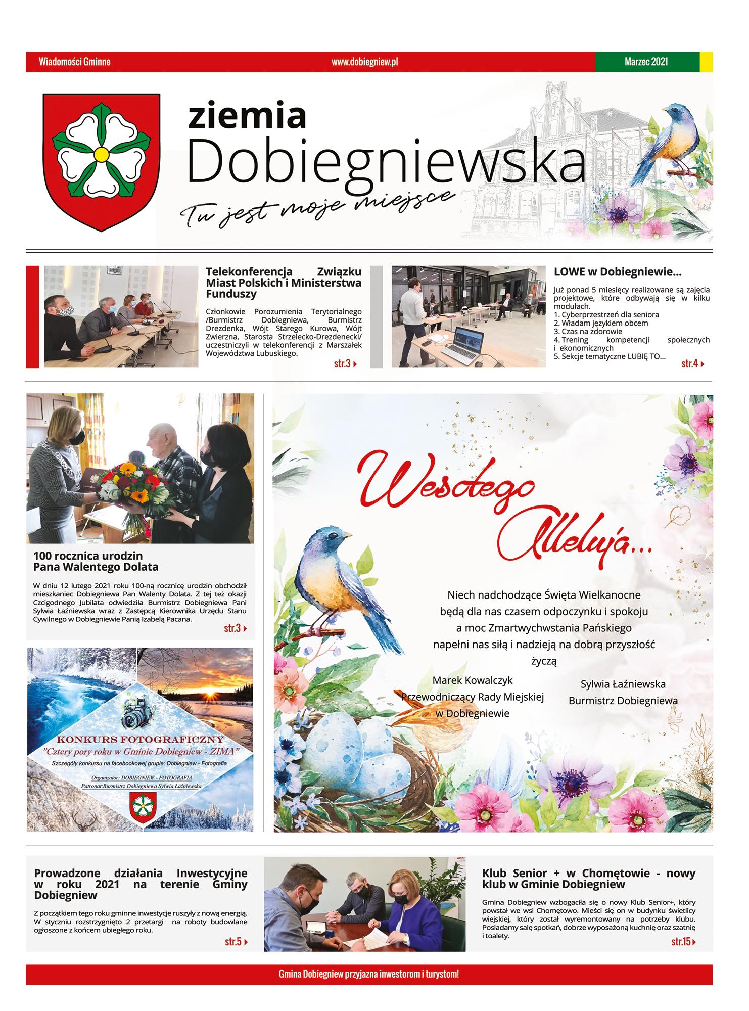 okładka gazety Ziemia Dobiegniewska - 2021